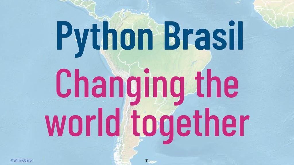 @WillingCarol 91 Python Brasil Changing the wor...