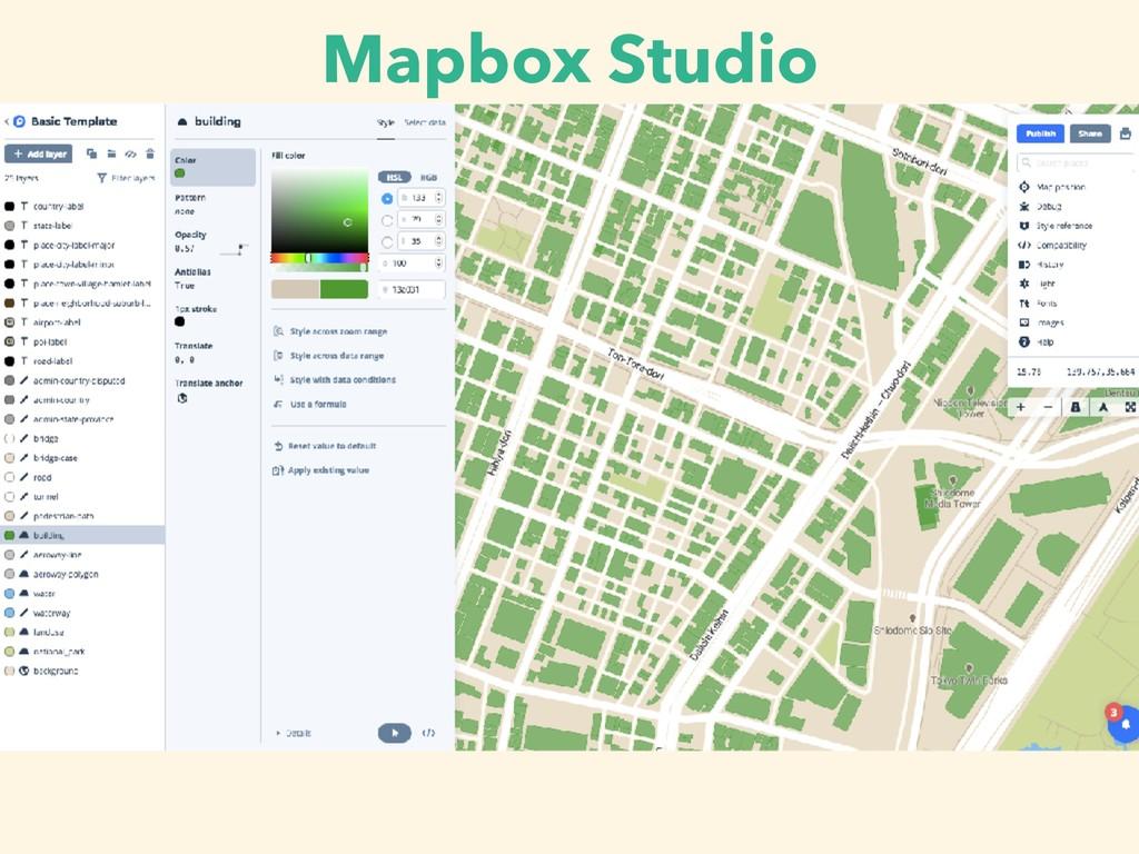 Mapbox Studio