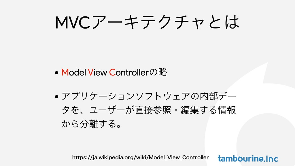 MVCΞʔΩςΫνϟͱ • Model View Controllerͷུ • ΞϓϦέʔγ...