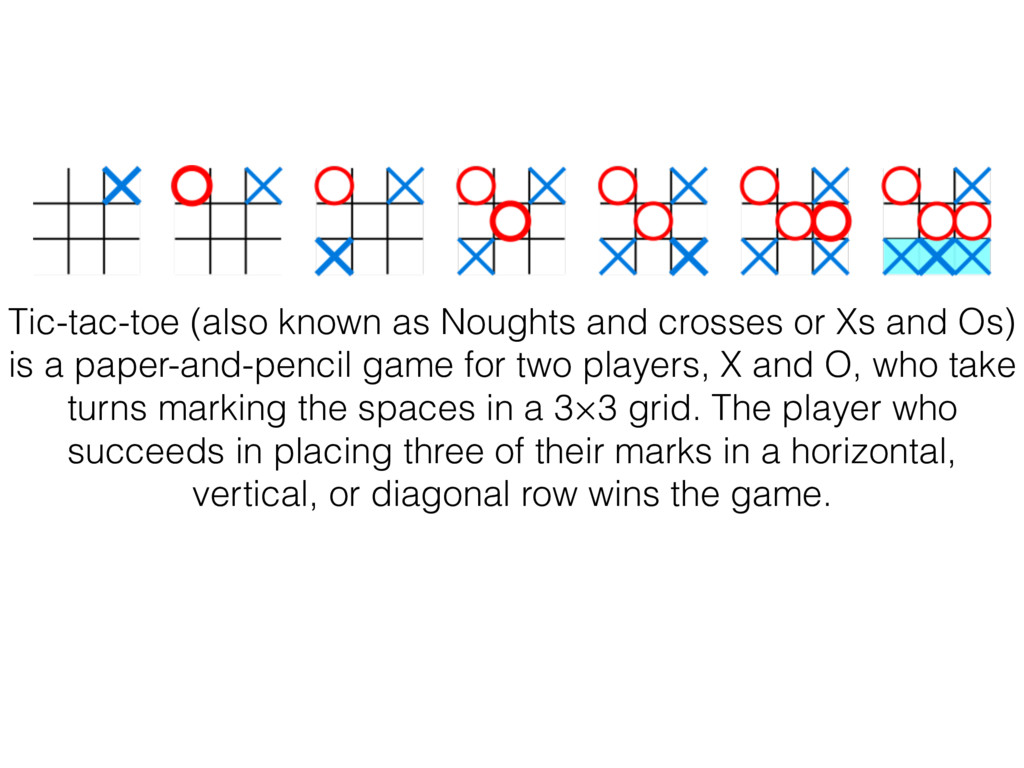Tic-tac-toe (also known as Noughts and crosses ...