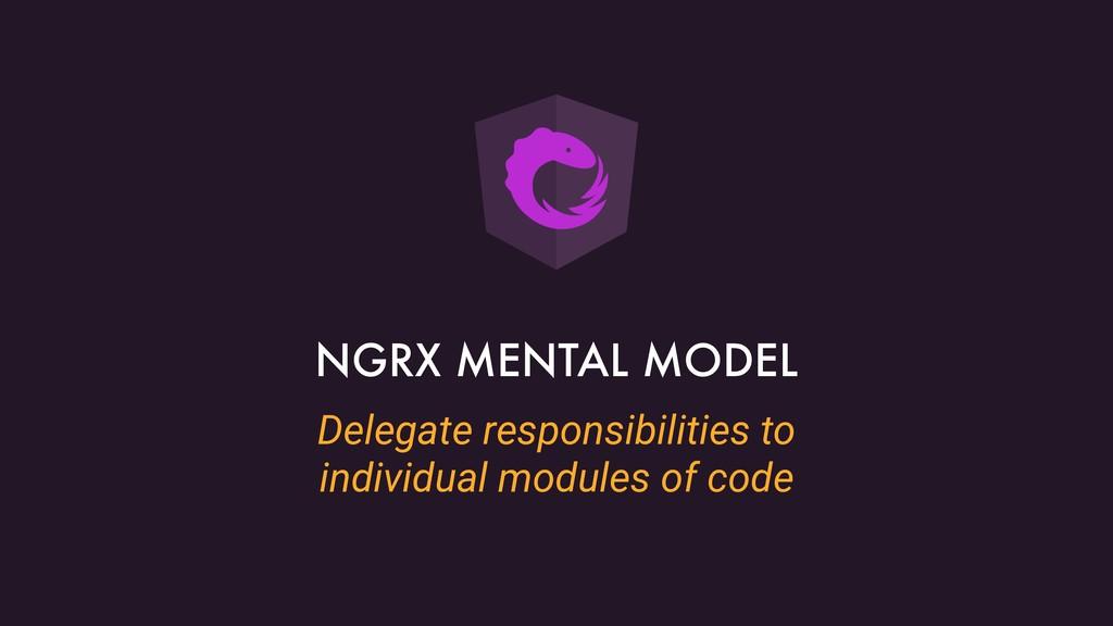Delegate responsibilities to individual modules...