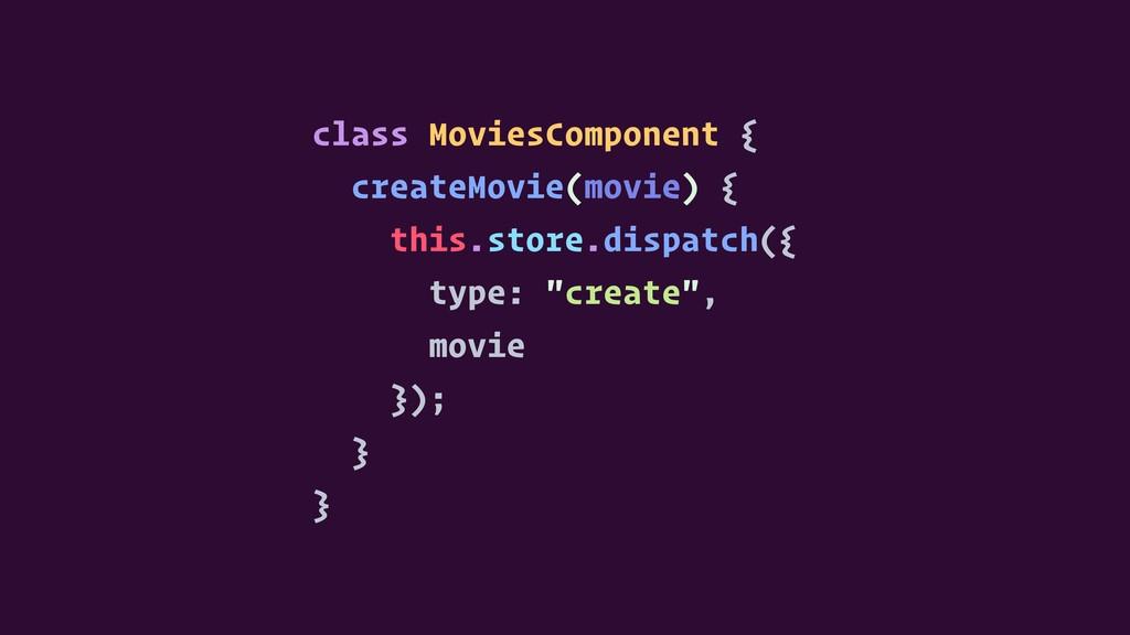 class MoviesComponent { createMovie(movie) { th...