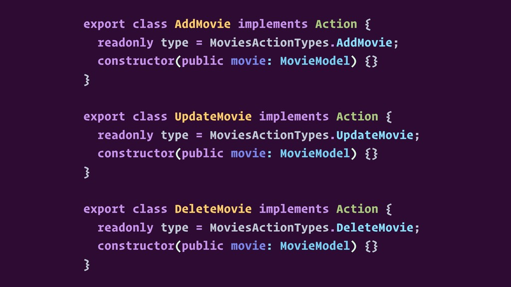 export class AddMovie implements Action { reado...
