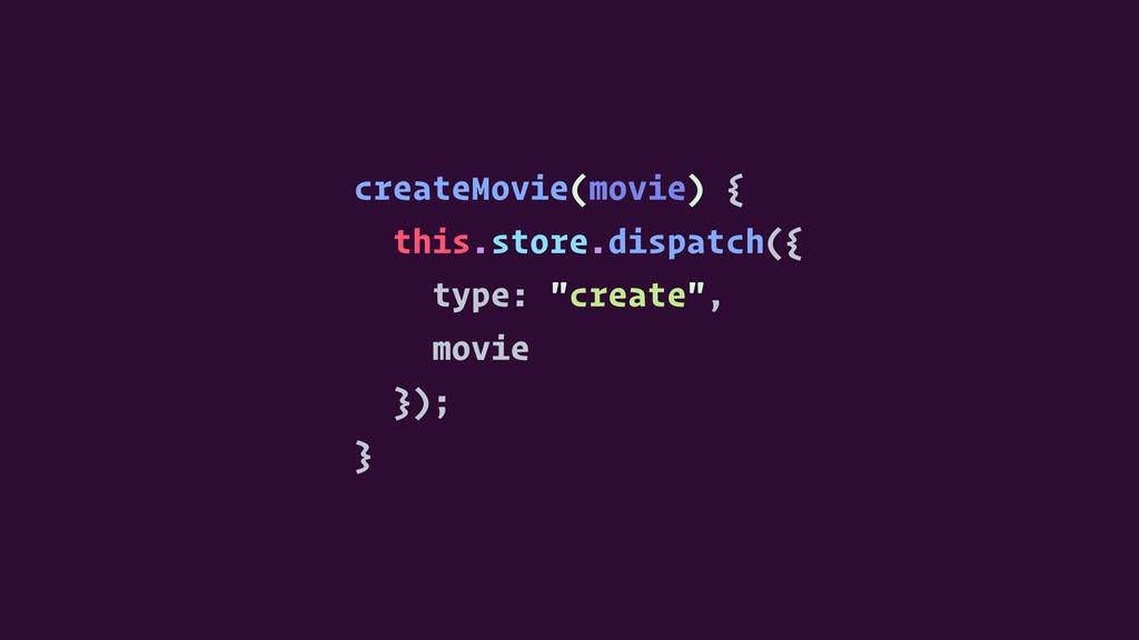 createMovie(movie) { this.store.dispatch({ type...