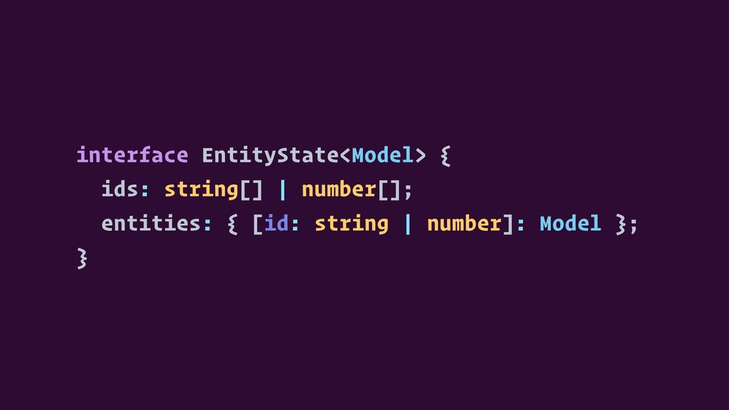interface EntityState<Model> { ids: string[] | ...