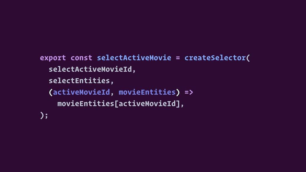 export const selectActiveMovie = createSelector...