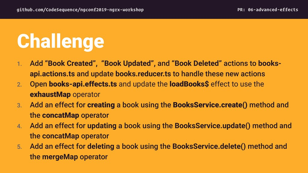 """1. Add """"Book Created"""", """"Book Updated"""", and """"Boo..."""