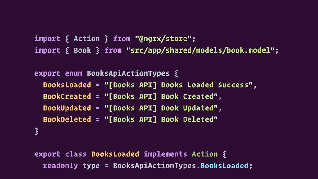 """import { Action } from """"@ngrx/store""""; import { ..."""