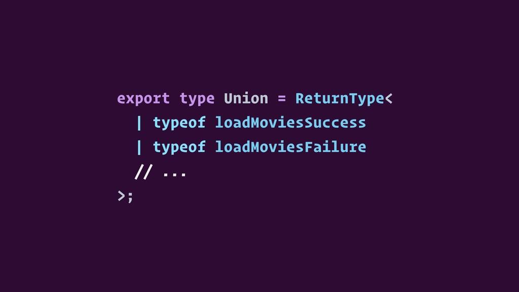 export type Union = ReturnType< | typeof loadMo...