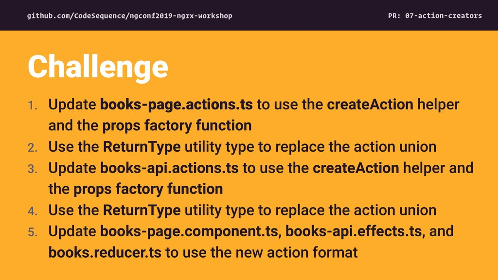 1. Update books-page.actions.ts to use the crea...
