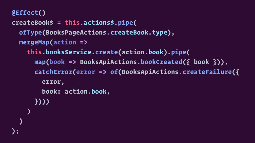 @Effect() createBook$ = this.actions$.pipe( ofT...
