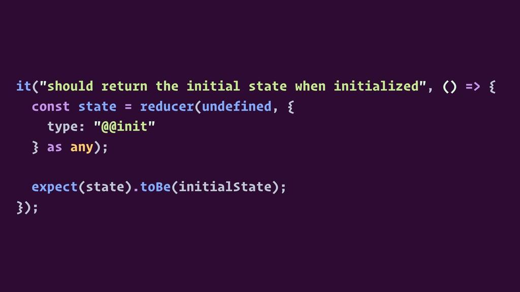 "it(""should return the initial state when initia..."