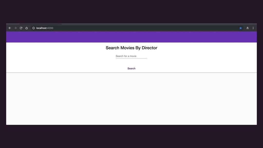 {live screenshot of movie search app}