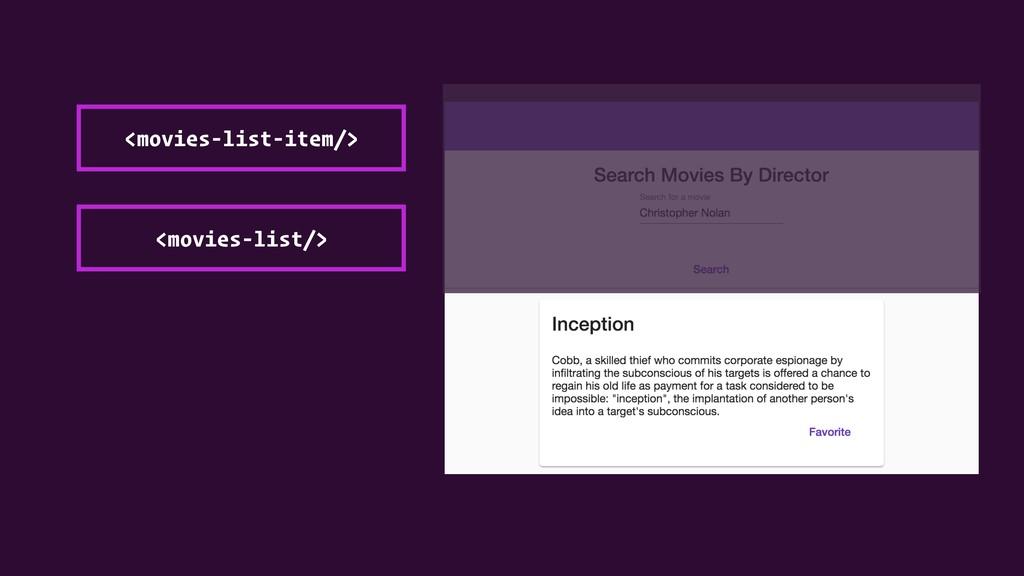 <movies-list/> <movies-list-item/>