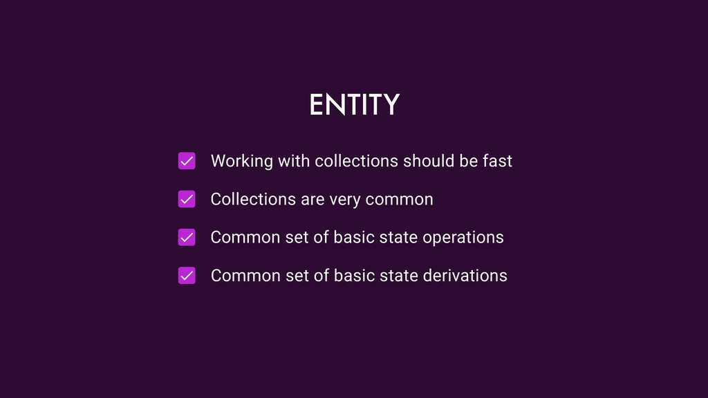 Working with collections should be fast Collect...