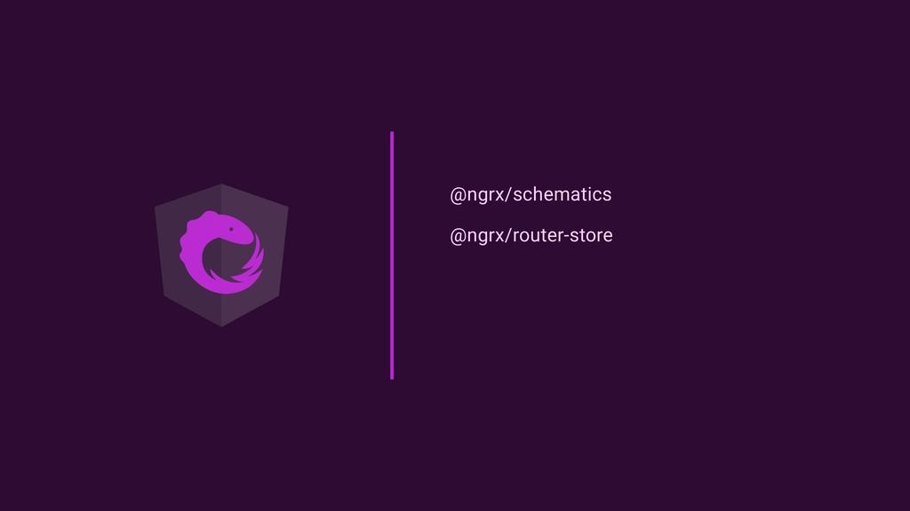 @ngrx/schematics @ngrx/router-store
