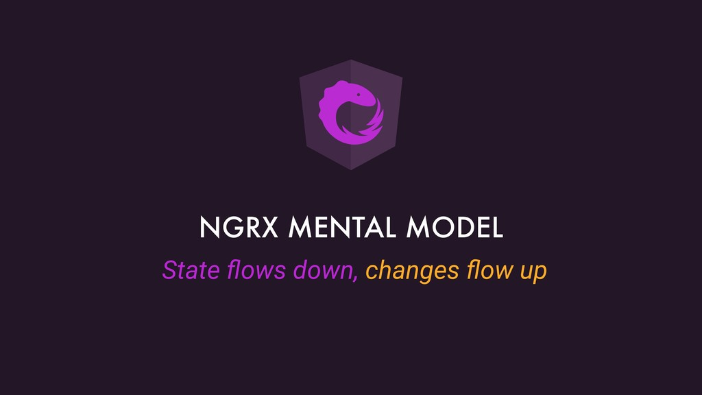 State flows down, changes flow up NGRX MENTAL MOD...