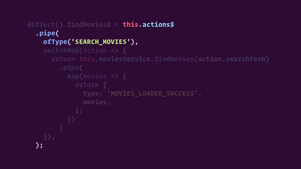 @Effect() findMovies$ = this.actions$ .pipe( of...