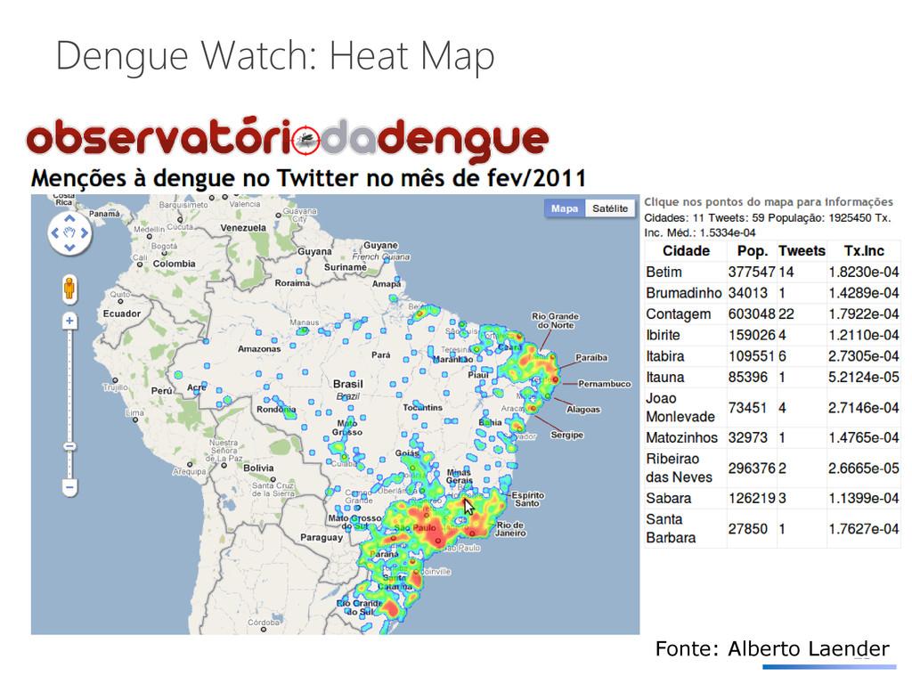 Dengue Watch: Heat Map 23 Fonte: Alberto Laender