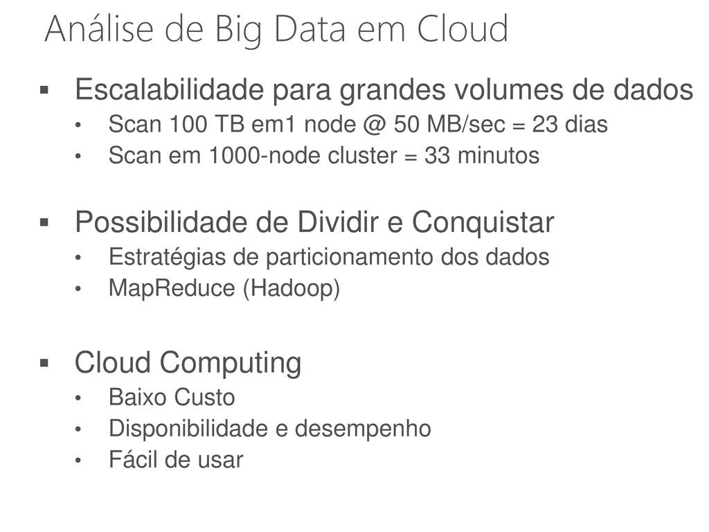 Análise de Big Data em Cloud  Escalabilidade p...