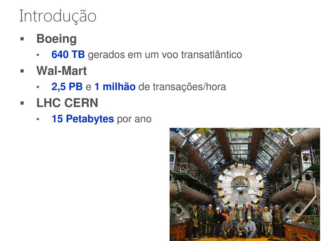 5 Introdução  Boeing • 640 TB gerados em um vo...