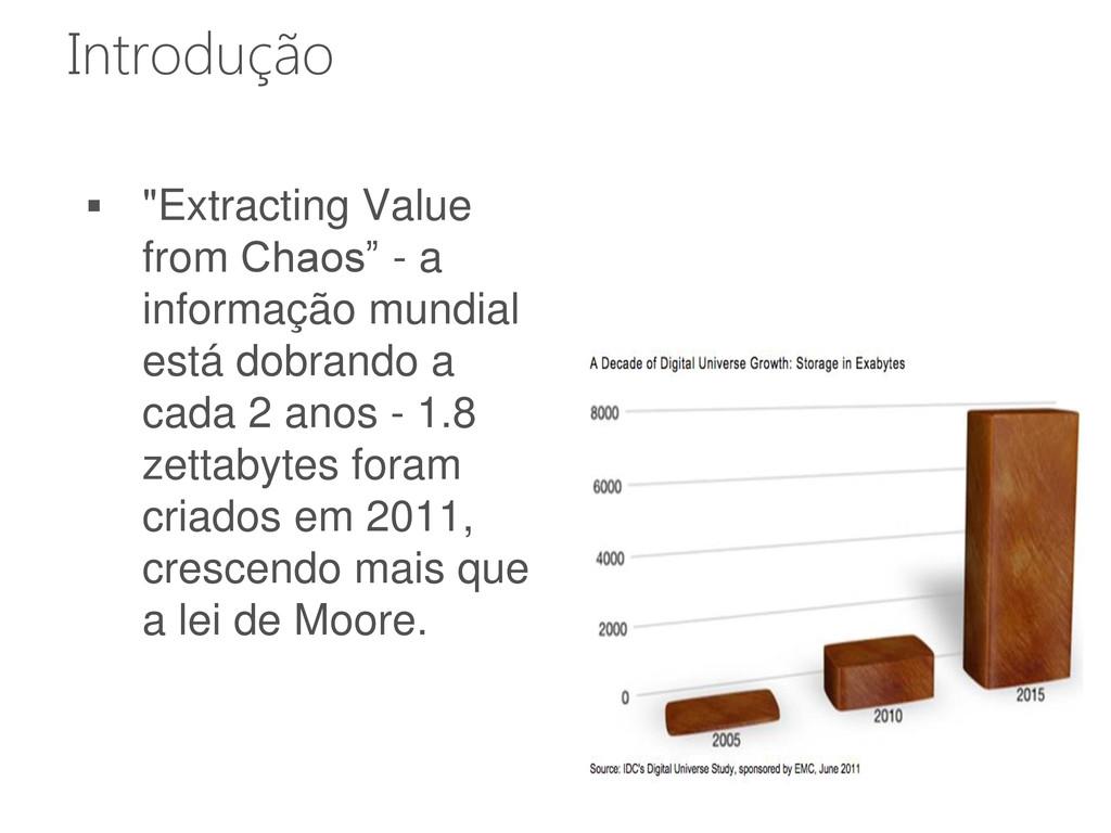 " ""Extracting Value from Chaos"" - a informação ..."