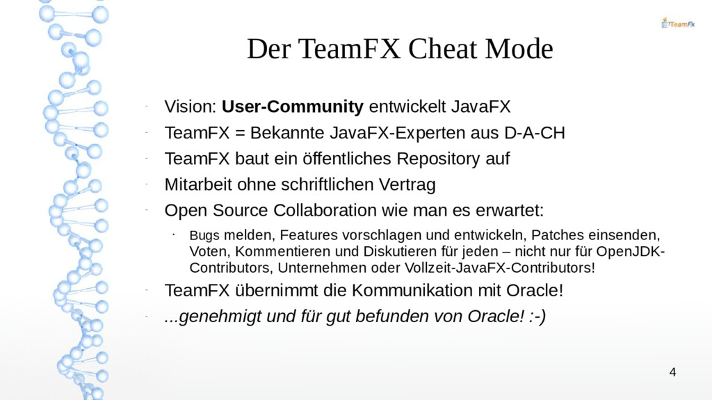 4 Der TeamFX Cheat Mode – Vision: User-Communit...