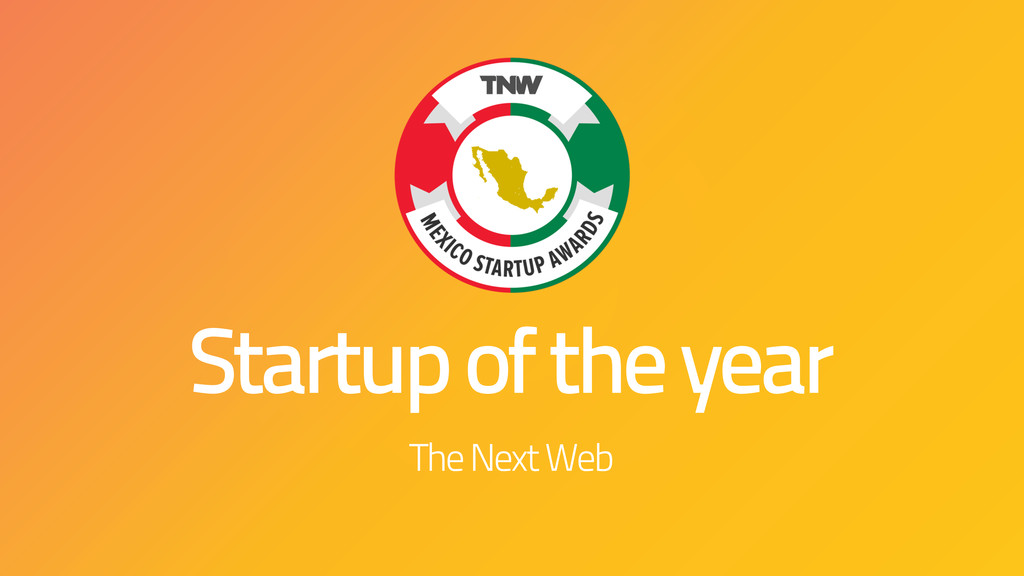 Startup of the year The Next Web