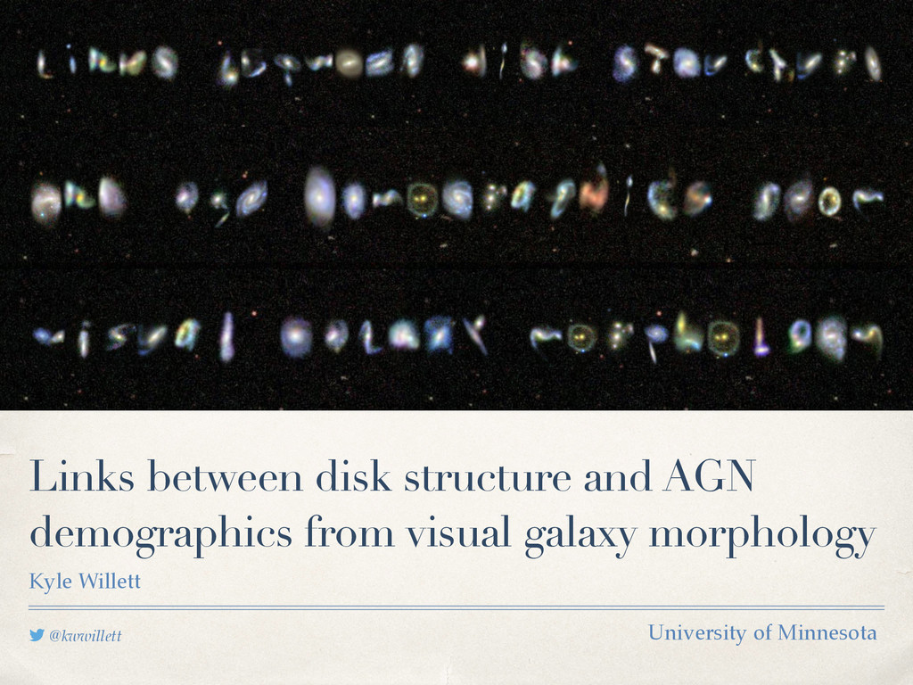@kwwillett Links between disk structure and AGN...