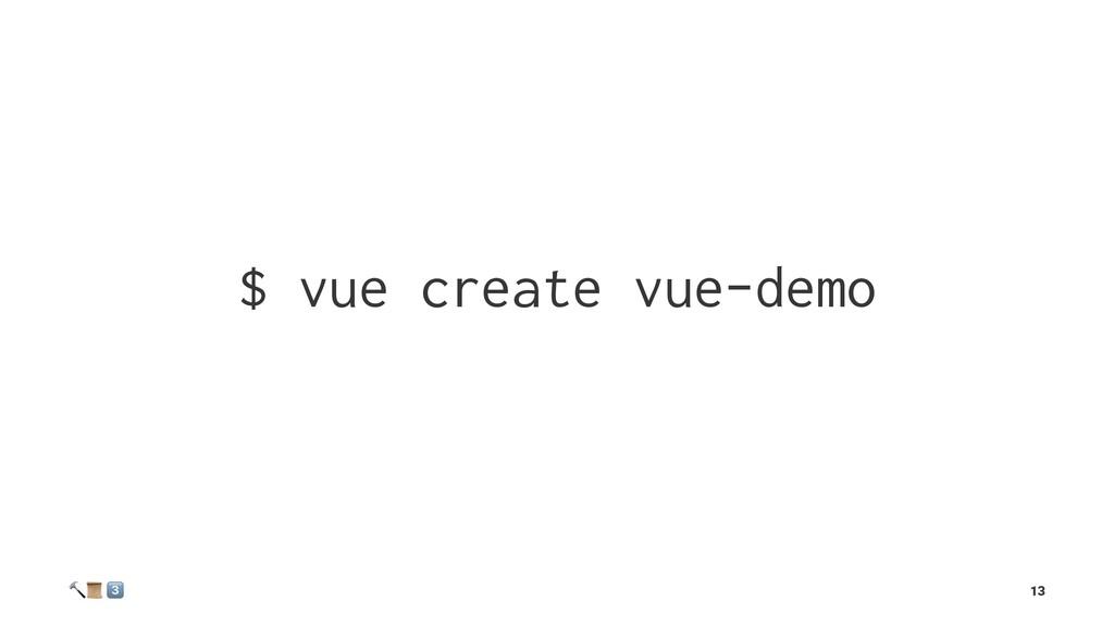 """$ vue create vue-demo ! """" # 13"""