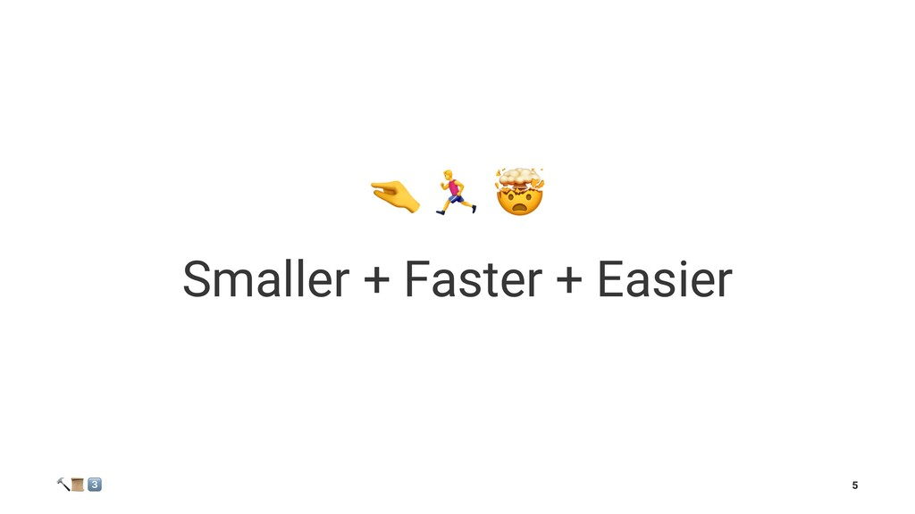 """! """" Smaller + Faster + Easier ! """" # 5"""