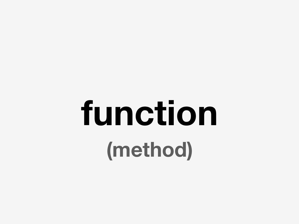 function (method)