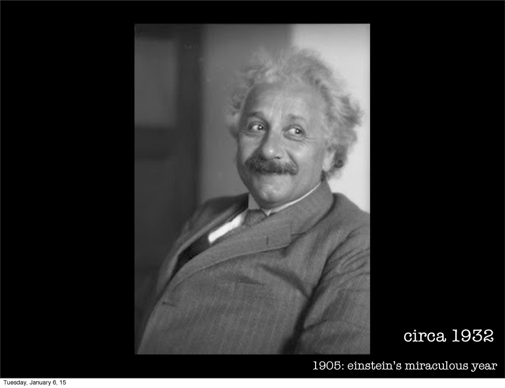 1905: einstein's miraculous year circa 1932 Tue...