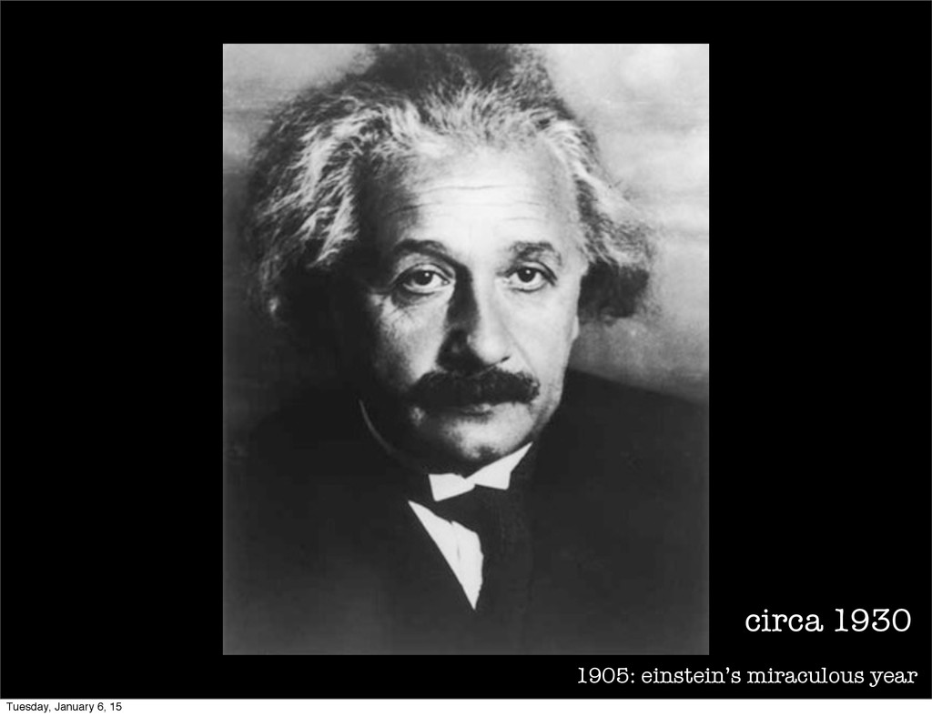 1905: einstein's miraculous year circa 1930 Tue...