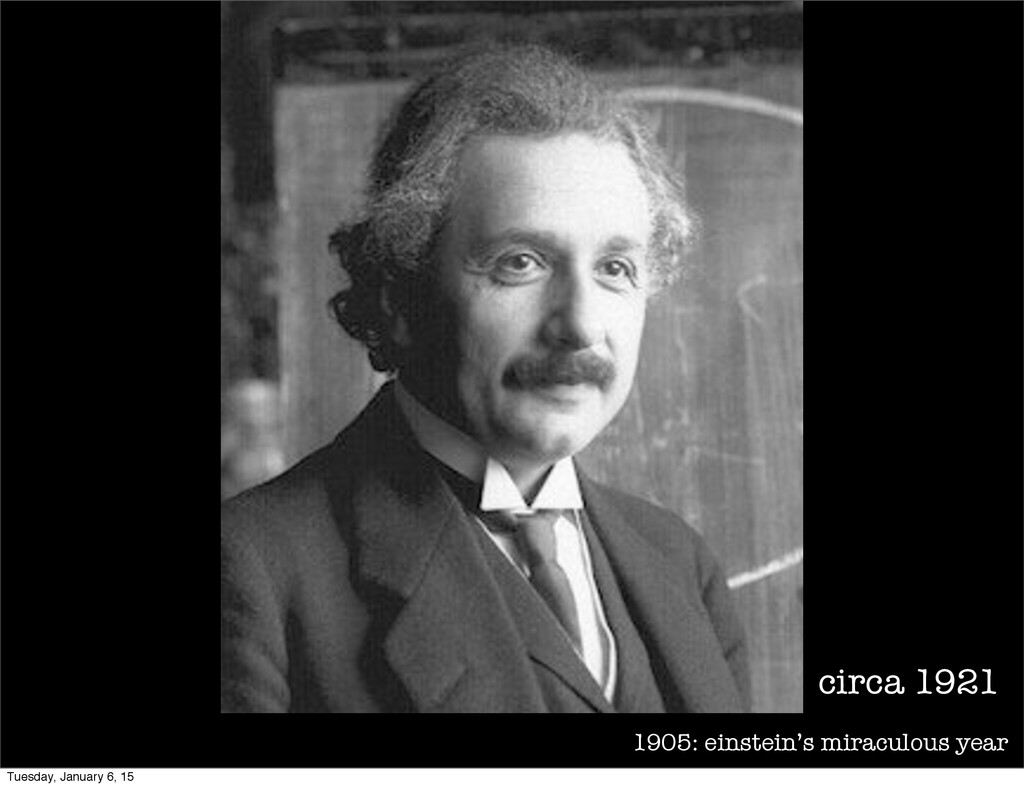 1905: einstein's miraculous year circa 1921 Tue...