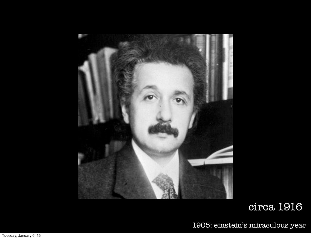 1905: einstein's miraculous year circa 1916 Tue...
