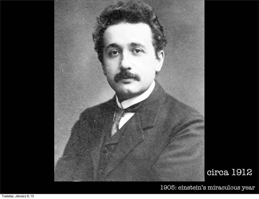 1905: einstein's miraculous year circa 1912 Tue...