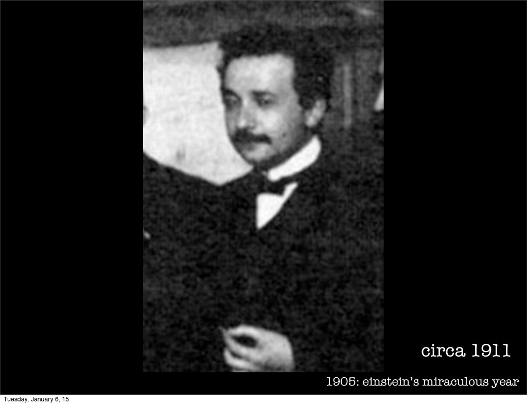 1905: einstein's miraculous year circa 1911 Tue...