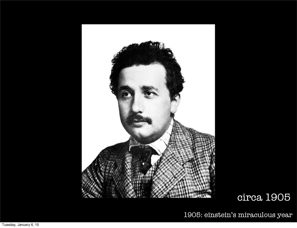 1905: einstein's miraculous year circa 1905 Tue...