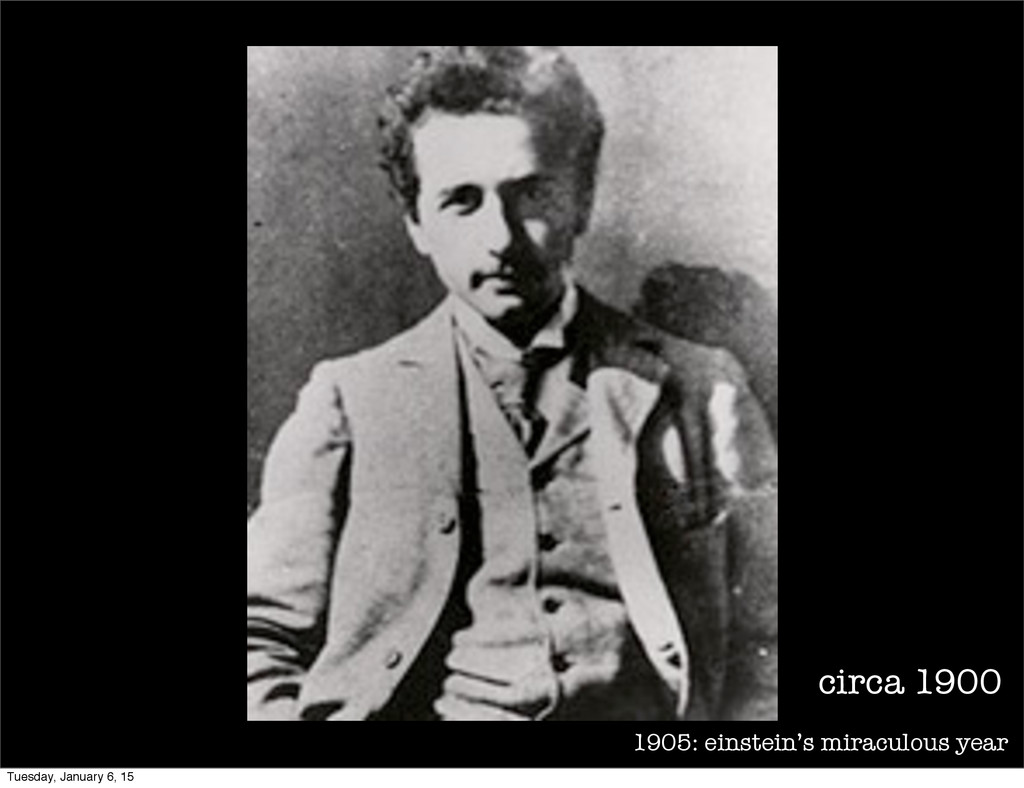 1905: einstein's miraculous year circa 1900 Tue...