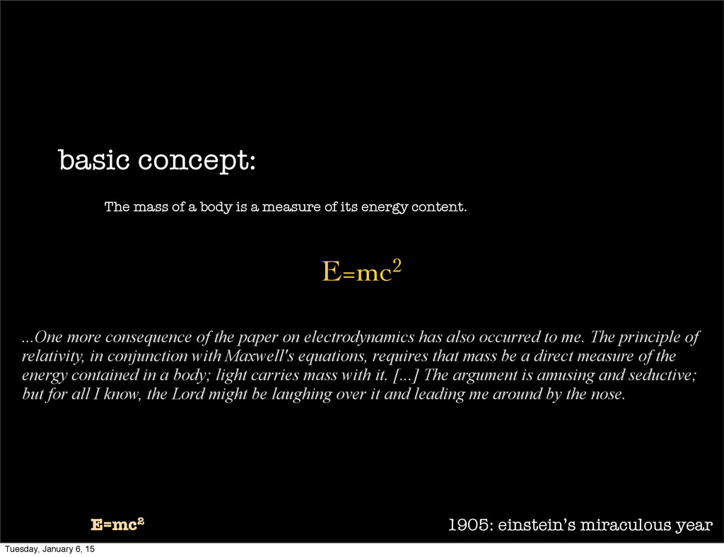 1905: einstein's miraculous year E=mc2 basic co...