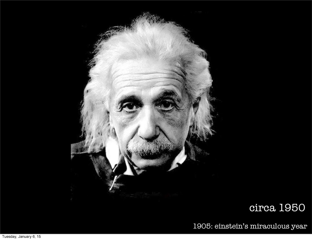 1905: einstein's miraculous year circa 1950 Tue...