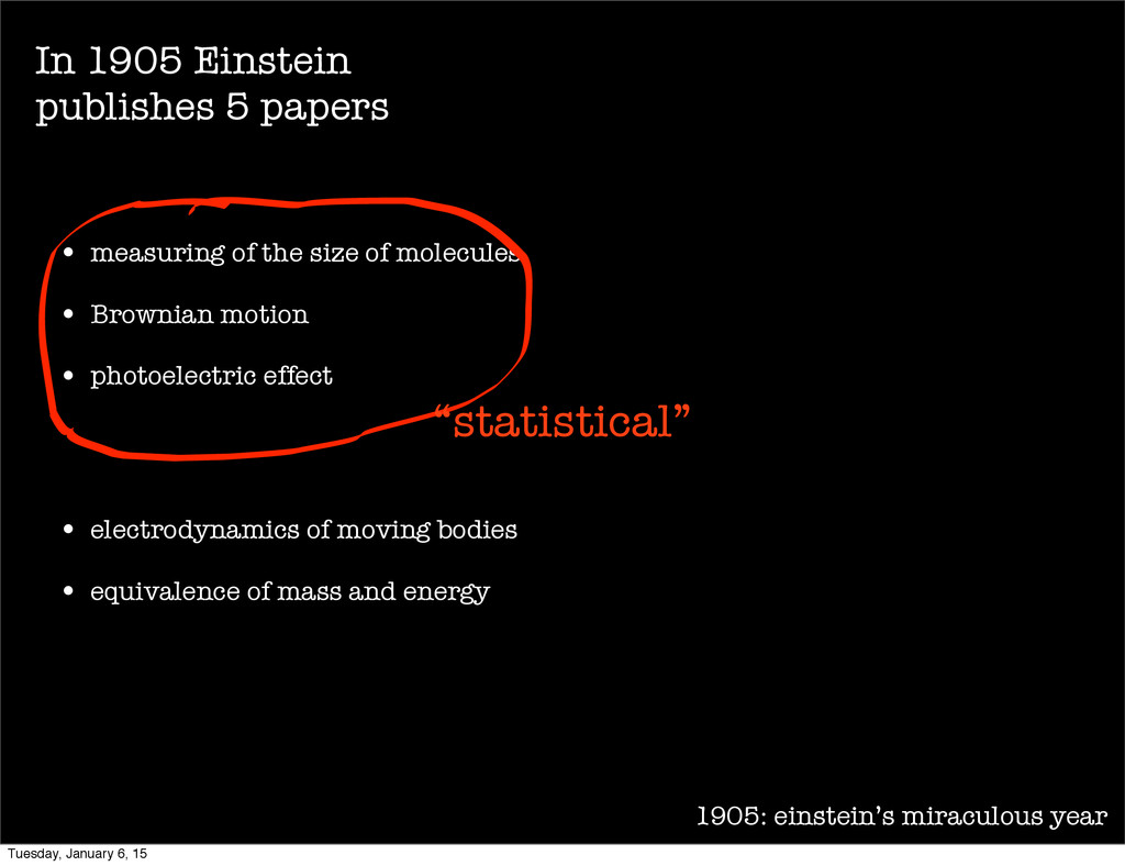 1905: einstein's miraculous year • measuring of...