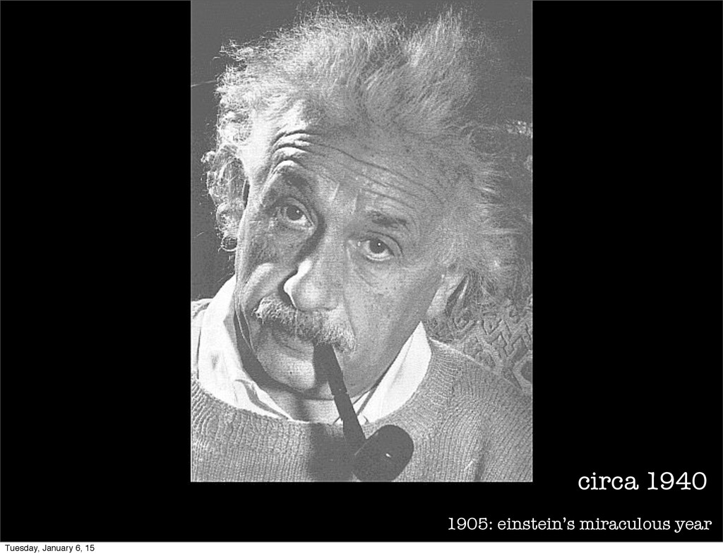 1905: einstein's miraculous year circa 1940 Tue...