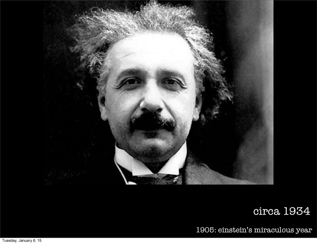 1905: einstein's miraculous year circa 1934 Tue...