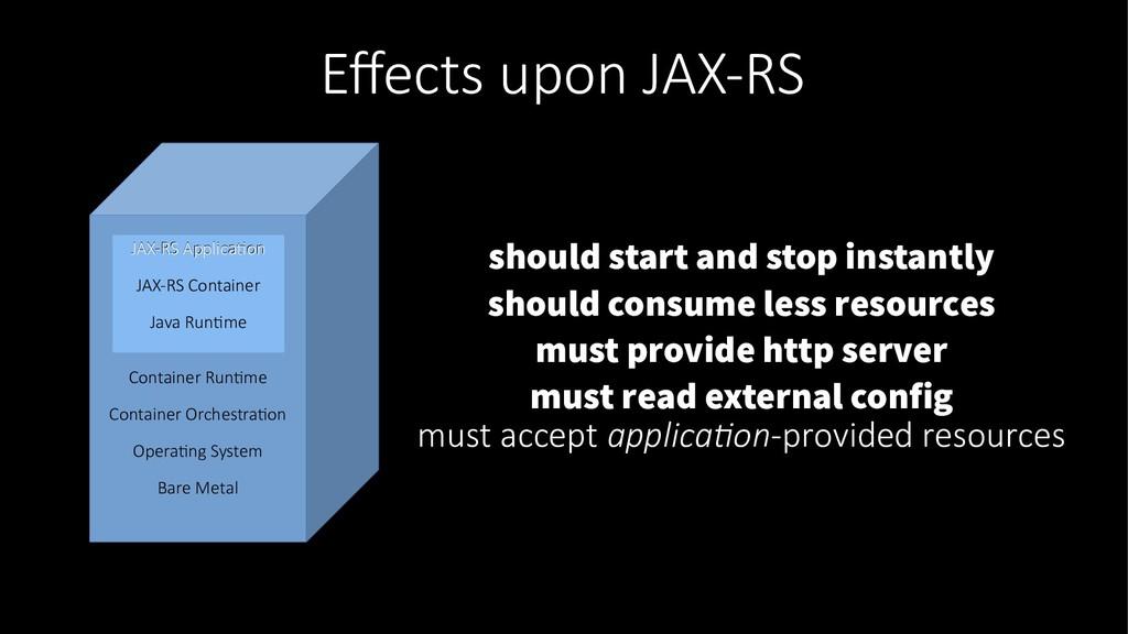 Effects upon JAX-RS JAX-RS Application JAX-RS A...