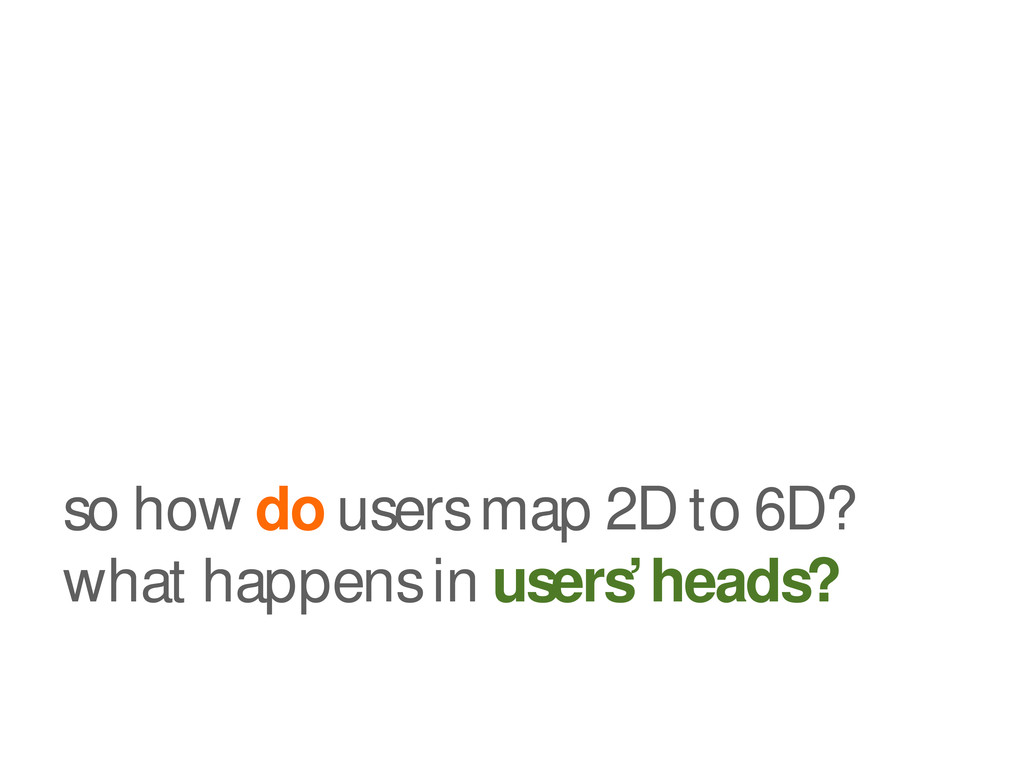 so how do users map 2D to 6D? what happens in u...