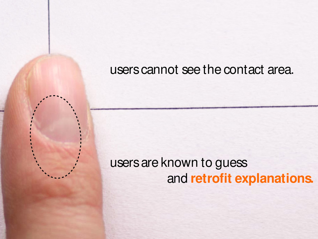 users are known to guess and retrofit explanati...
