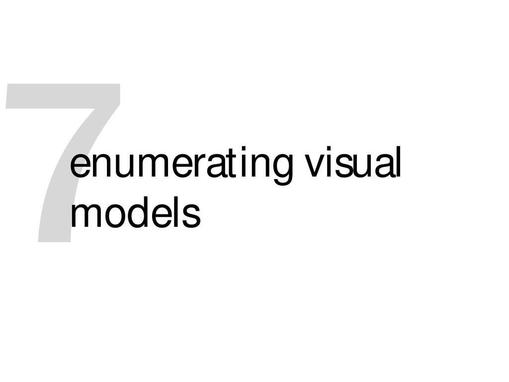 7 enumerating visual models