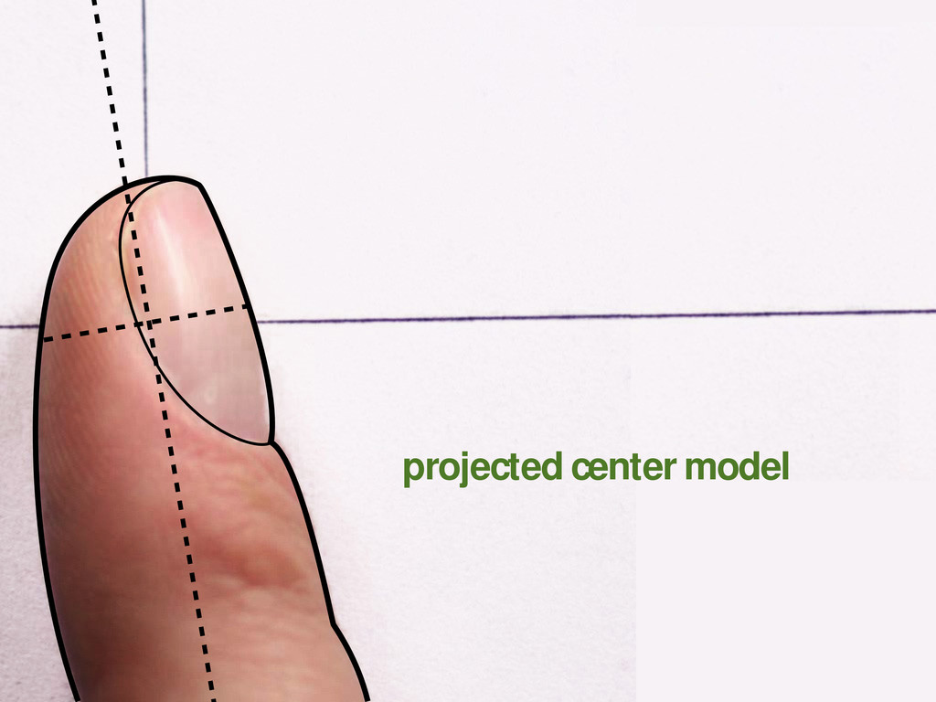 projected center model